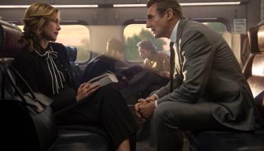 Vera Farmiga and Liam Neeson star in Lionsgate Films' THE COMMUTER