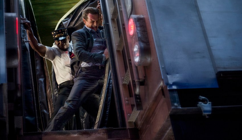 """Liam Neeson as """"Michael"""" in Lionsgate Films' THE COMMUTER"""