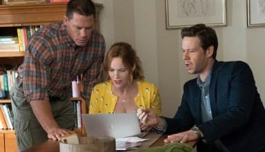 (L- R) John Cena, Leslie Mann and Ike Barinholtz star in Universal Pictures' BLOCKERS