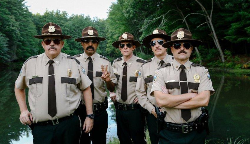 (L-R): Kevin Heffernan, Jay Chandrasekhar, Erik Stolhanske, Paul Soter and Steve Lemme star in Fox Searchlight's SUPER TROOPERS 2