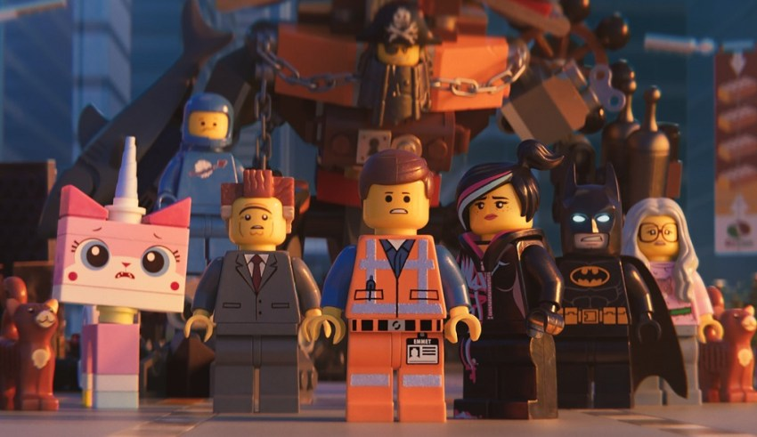 (L-R) Alison Brie, Nick Offerman, Chris Pratt, Elizabeth Banks and Will Arnett star in Warner Bros. Pictures' THE LEGO MOVIE 2: THE SECOND PART