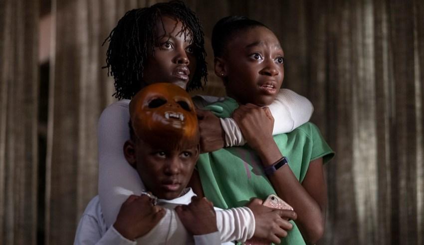 (Clockwise) Evan Alex, Lupita Nyong'o and Shahadi Wright Joseph star in Universal Pictures' US