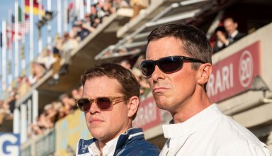 Matt Damon and Christian Bale in Twentieth Century Fox's FORD V. FERRARI