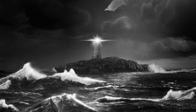 Poster image of A24 Films' THE LIGHTHOUSE
