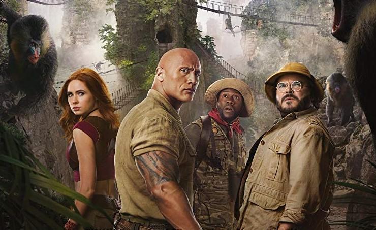 Karen Gillan, Dwayne Johnson, Kevin Hart and Jack Black star in Sony Pictures' JUMANJI: THE NEXT LEVEL