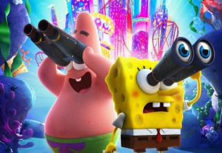 Poster image of Paramount Pictures' THE SPONGEBOB MOVIE: SPONGE ON THE RUN