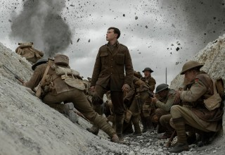 (Center) George MacKay stars in Universal Pictures' 1917