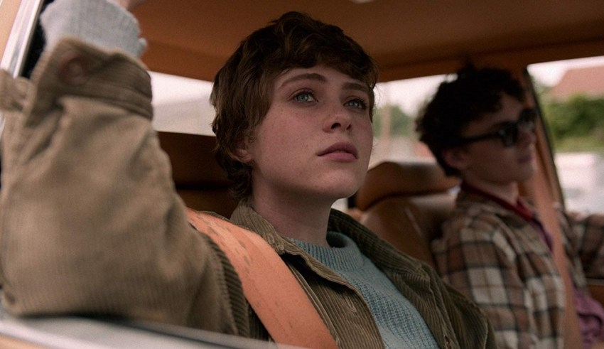 Sophia Lillis and Wyat Oleff star in Netflix's I AM NOT OKAY WITH THIS