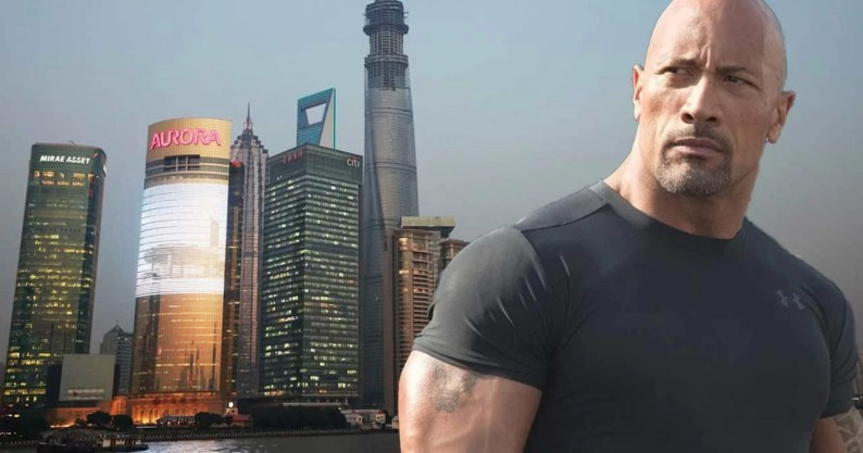 Risultati immagini per Skyscraper super bowl trailer