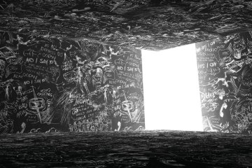 Ilustração do pôster da 42ª Mostra de São Paulo, por Laurie Anderson - Foto: Mostra de SP/Divulgação