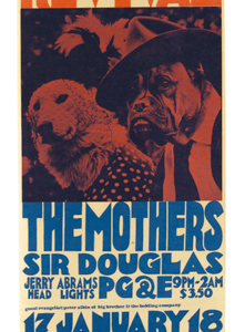 Psychedelic poster 60's The Family Dog Revival