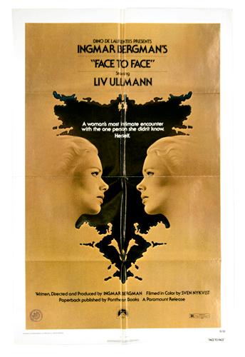 Face to Face original film poster Ingmar Bergman Cine Qua Non