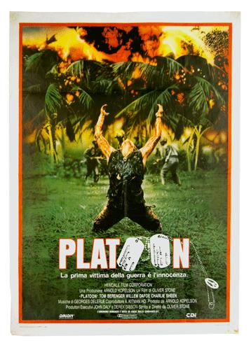 Original film poster Platoon large Cine Qua Non