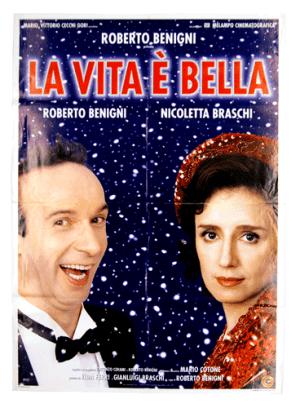 La Vita è bella original film poster Roberto Benigni