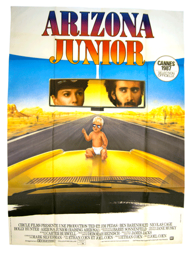 Arizona Junior large origal poster Coen brothers Nicolas Cage