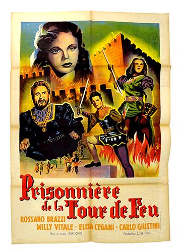 Prisonniere de la tour de feu poster