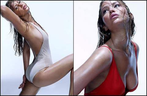 Jennifer Lawrence muy sexy.