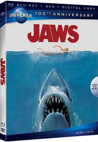 Carátula Blu-Ray de Tiburón.