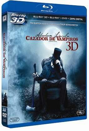 Abraham Lincoln: Cazador de vampiros. Carátula Blu-ray 3D.