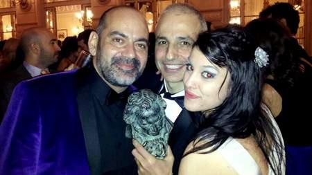 Ana Marco con Gorbacho y Pablo Berger