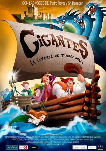 """Póster de """"Gigantes, la leyenda de Tombatossals""""."""