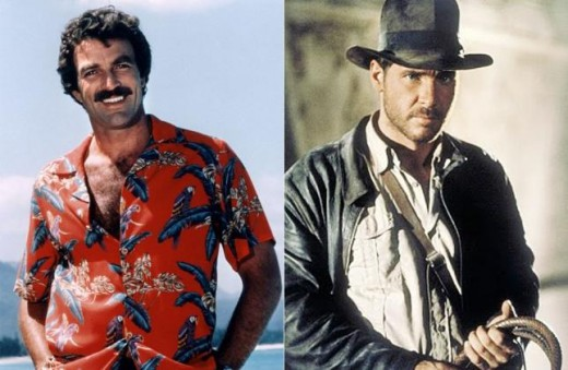 Tom Selleck y Harrison Ford.