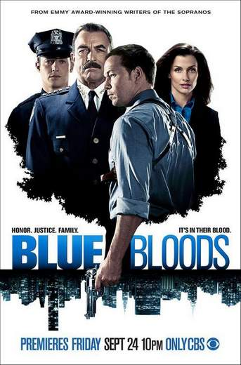 "Póster de la serie de TV ""Blue Bloods""."