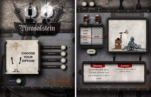 Phrasalstein, la App de Cambridge y Cineralia.