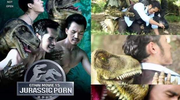 Jurassic Porn, parodia porno de Jurassic World