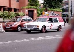 El coche de Los Cazafantasmas recorre Madrid