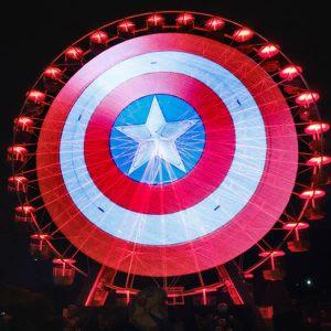 Captain America ruota luneur