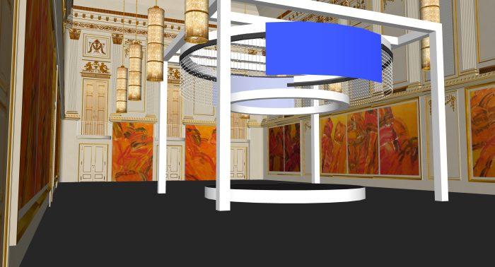 event design sample: rotating center stage Hofburg, Vienna
