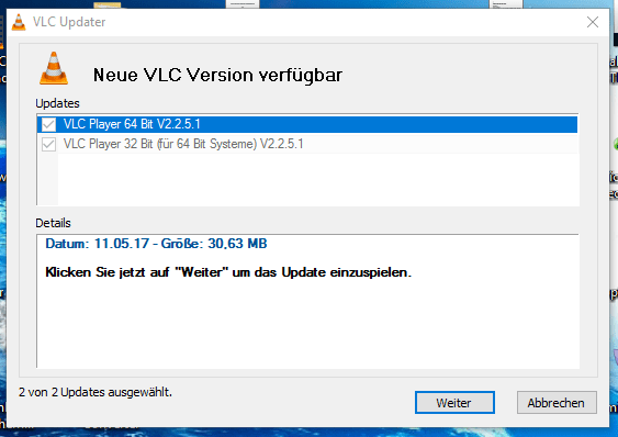 Startfenster.de fake VLC-Update