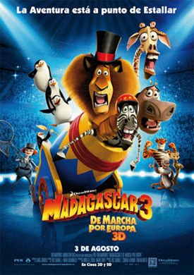Madagascar 3 de viaje por europa