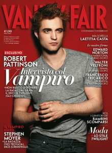 Robert Pattison nella copertina di Vanity Fair