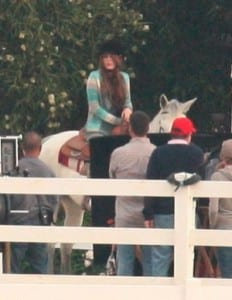 "Miley Cyrus sul set di ""Hannah Montana 4"""