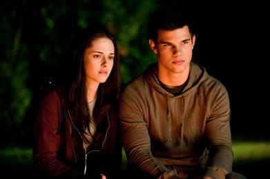 Kristen Stewart e Taylor Lautner (Bella e Jacob)