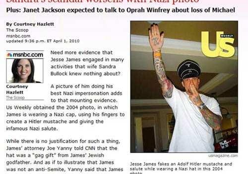 Jesse James sulle pagine dei tabloid