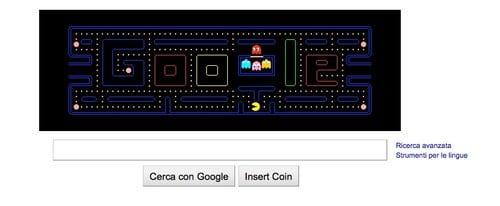 """Loco di Google dedicato a """"Pac-Man"""""""