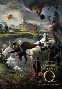 La seconda parte del poster de Il grande e potente Oz