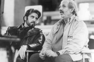 Al Pacino e Brian De Palma durante una pausa sul set di Carlito's Way