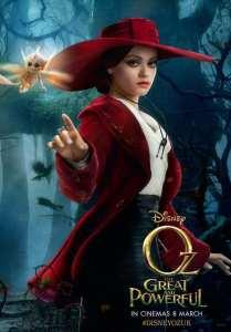 Mila Kunis nel character poster de Il grande e potente Oz