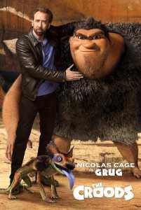Nicholas Cage è Grug, il protagonista de I Croods, nel character poster del nuovo film d'animazione Dreamworks