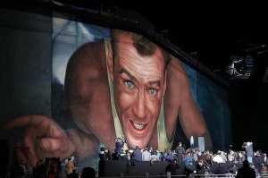 Il murale celebrativo della saga di Die Hard