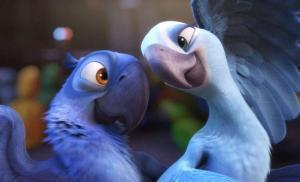 Un'immagine dal film d'animazione Rio