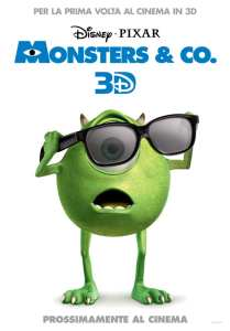 Il poster promozionale per la release in 3D di Monsters & Co.