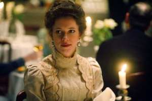 "Rebecca Hall in una scena di ""The prestige"""