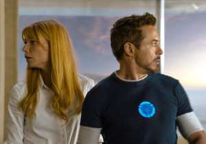 Gwyneth Paltrow e Robert Downey Jr. in Iron Man 3
