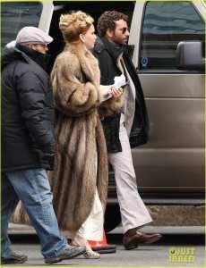 Jennifer Lawrence e Bradley Cooper sul set del film di David O. Russell