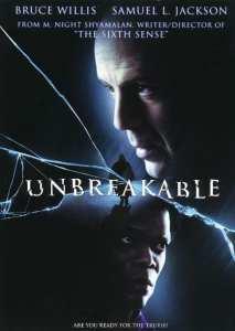 "La locandina originale di ""Unbreakable"""